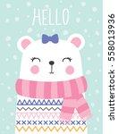 little teddy bear girl vector...