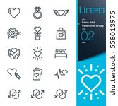 lineo   love and valentine's... | Shutterstock .eps vector #558013975