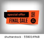 70  off sale banner design.... | Shutterstock .eps vector #558014968