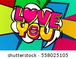 love you word bubble. message... | Shutterstock .eps vector #558025105
