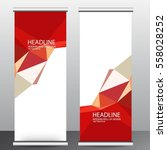 abstract roll up banner... | Shutterstock .eps vector #558028252
