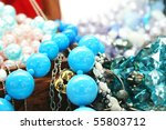 Colorful Jewelery On White...