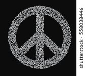 peace sign vector illustration... | Shutterstock .eps vector #558038446