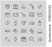 outline icons set   art ... | Shutterstock .eps vector #558041032