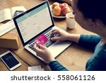 e banking payment financial... | Shutterstock . vector #558061126