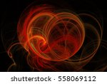 abstract fractal background.... | Shutterstock . vector #558069112