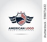 american logo template. vector... | Shutterstock .eps vector #558071632