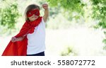 the little toddler dressed as a ... | Shutterstock . vector #558072772