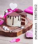 three layered valentine's day... | Shutterstock . vector #558073612