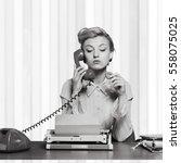 secretary. | Shutterstock . vector #558075025