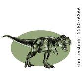tyrannosaurus dinosaur vector... | Shutterstock .eps vector #558076366
