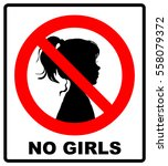 no girls allowed with female... | Shutterstock .eps vector #558079372