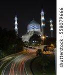 Small photo of Light trail at Masjid Sultan Abdul Aziz Shah , Shah Alma, Selangor
