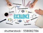 excellence concept. the meeting ... | Shutterstock . vector #558082786