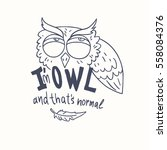 trendy owls draw with the