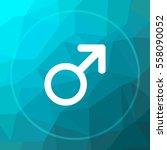 male sign icon. male sign... | Shutterstock . vector #558090052