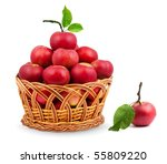 Basket Of Apples Isolated On A...