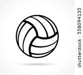 illustration of volleyball icon ... | Shutterstock .eps vector #558094135