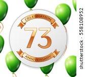 golden number seventy three... | Shutterstock .eps vector #558108952