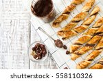 homemade cakes   puff pastry... | Shutterstock . vector #558110326