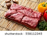 beef thin skirt  roast beef... | Shutterstock . vector #558112345