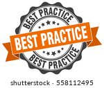 best practice. stamp. sticker.... | Shutterstock .eps vector #558112495