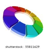 chromatic circle with... | Shutterstock . vector #55811629