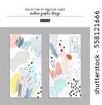 set of artistic creative... | Shutterstock .eps vector #558121666