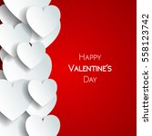 happy valentine day greeting... | Shutterstock .eps vector #558123742