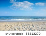 Cape May beach New Jersey - stock photo