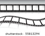 retro film strip background set | Shutterstock .eps vector #55813294
