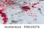 blood splatter on the snow pan... | Shutterstock . vector #558133276
