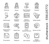 health conditions   diseases... | Shutterstock .eps vector #558135772