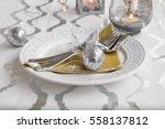 festive decoration on christmas ...   Shutterstock . vector #558137812