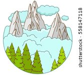 mountains landscape in the... | Shutterstock .eps vector #558147118