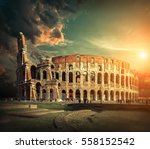 rome  italy. one of the most... | Shutterstock . vector #558152542