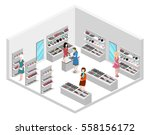 isometric flat 3d isolated... | Shutterstock .eps vector #558156172