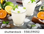 refreshing summer alcoholic... | Shutterstock . vector #558159052