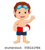 boy swimming | Shutterstock .eps vector #558161986