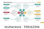 creative cycle diagram slide... | Shutterstock .eps vector #558162346