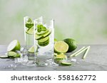 cold and refreshing infused... | Shutterstock . vector #558162772