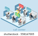 isometric flat 3d isolated... | Shutterstock .eps vector #558167005