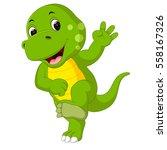 cute dinosaur cartoon | Shutterstock .eps vector #558167326
