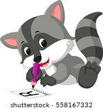 raccoon cartoon | Shutterstock .eps vector #558167332