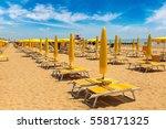 Umbrellas On The Beach Of Lido...