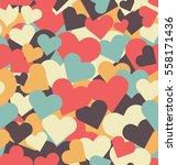 valentine   s day seamless... | Shutterstock .eps vector #558171436