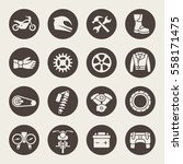 motorcycle icon set | Shutterstock .eps vector #558171475