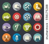 motorcycle icon set | Shutterstock .eps vector #558175288