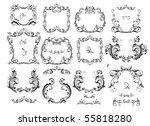 collection of vintage frame | Shutterstock .eps vector #55818280