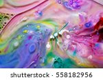 photograph of liquid colors... | Shutterstock . vector #558182956